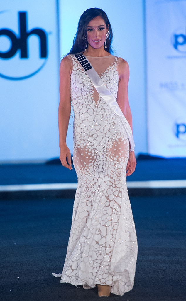 Miss Guam from Miss Universe 2017 Evening Gown Competition   E! News