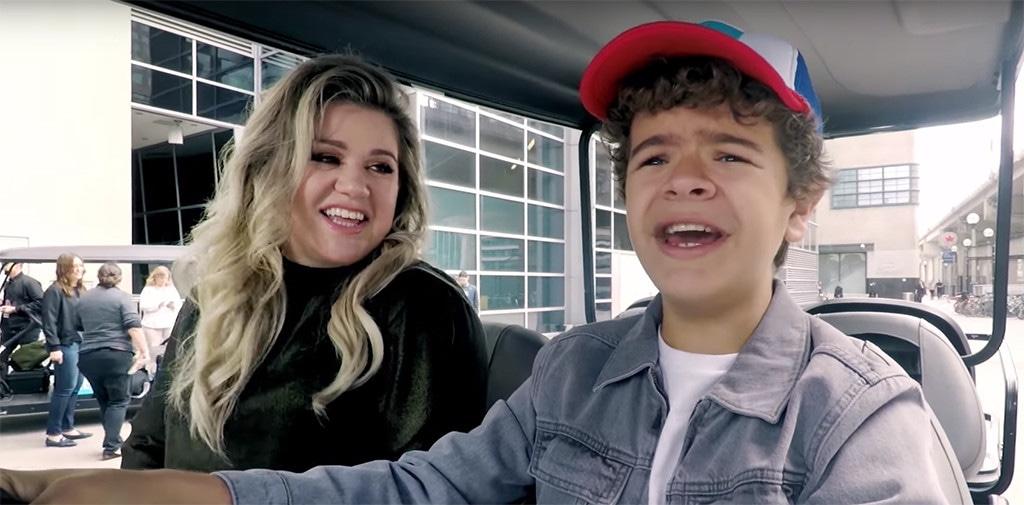 Kelly Clarkson, Gaten Matarazzo, Stranger Things, WE Day 2017