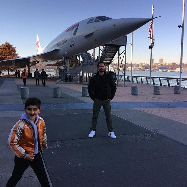 Scott Disick, Mason Disick, Son, Thanksgiving, 2017, Instagram