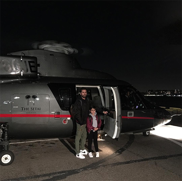Scott Disick, Mason Disick, Son, Thanksgiving, 2017, Instagram