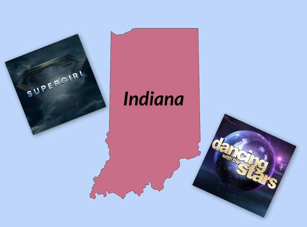 Favorite TV Shows in The United States, Indiana, Supergirl, DWTS
