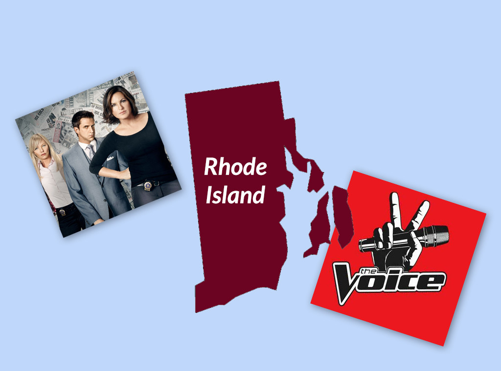 Favorite TV Shows in The United States, Rhode Island, SVU, The Voice
