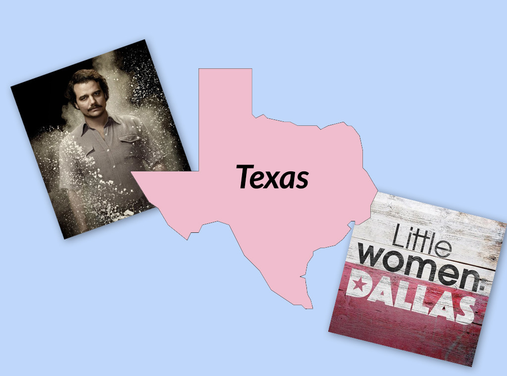 Favorite TV Shows in The United States, Texas, Narcos, Little Women: Dallas