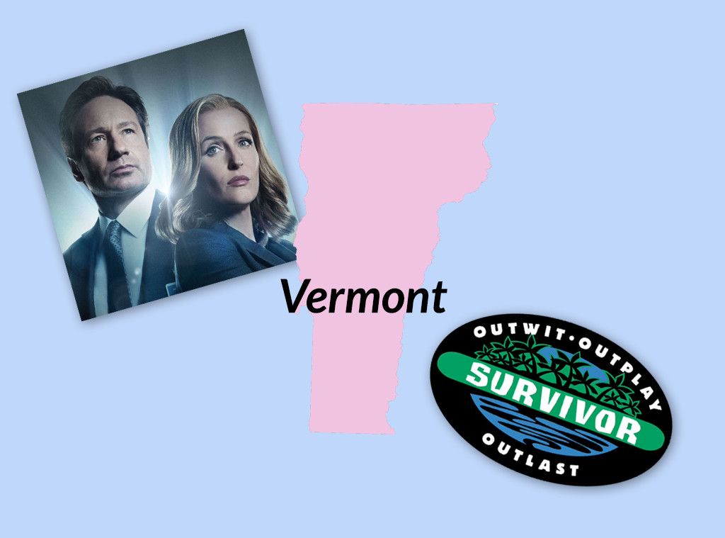 Favorite TV Shows in The United States, Vermont, The X-Files, Survivor