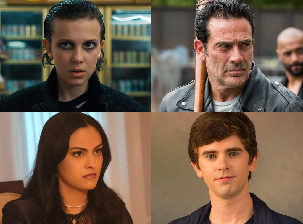 Freddie Highmore, The Good Doctor, Millie Bobby Brown, Stranger Things, Jeffrey Dean Morgan, The Walking Dead, Camila Mendes, Riverdale