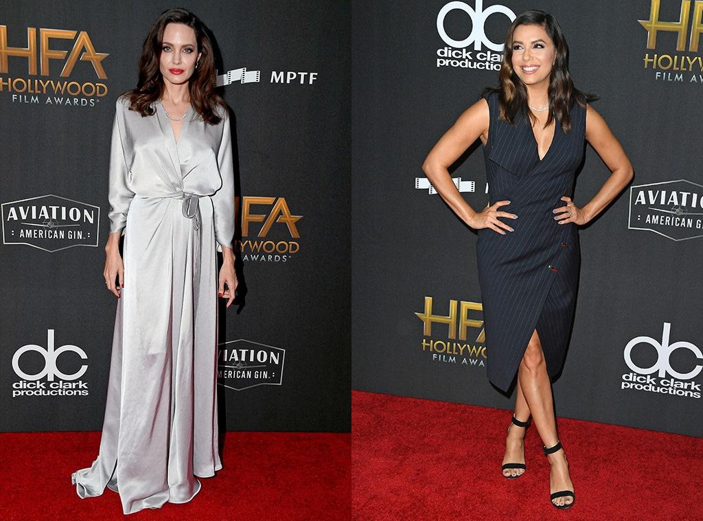 Angelina Jolie, Eva Longoria, 2017 Hollywood Film Awards