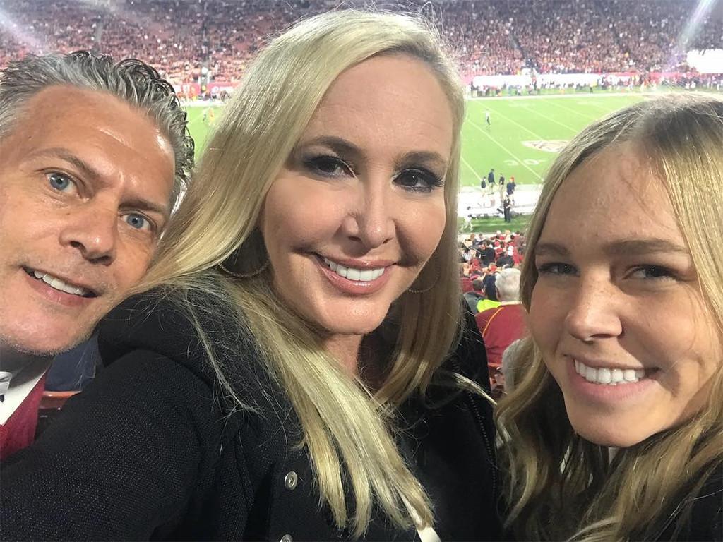 Shannon Beador, David Beador, Sophie Beador, USC Game