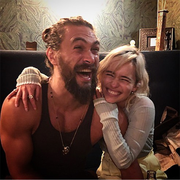 Emilia Clarke, Jason Momoa, Game of Thrones Reunion