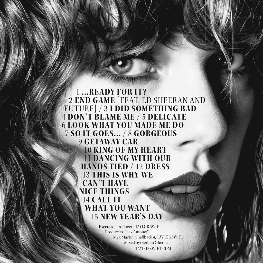 Taylor Swift, Reputation, Instagram