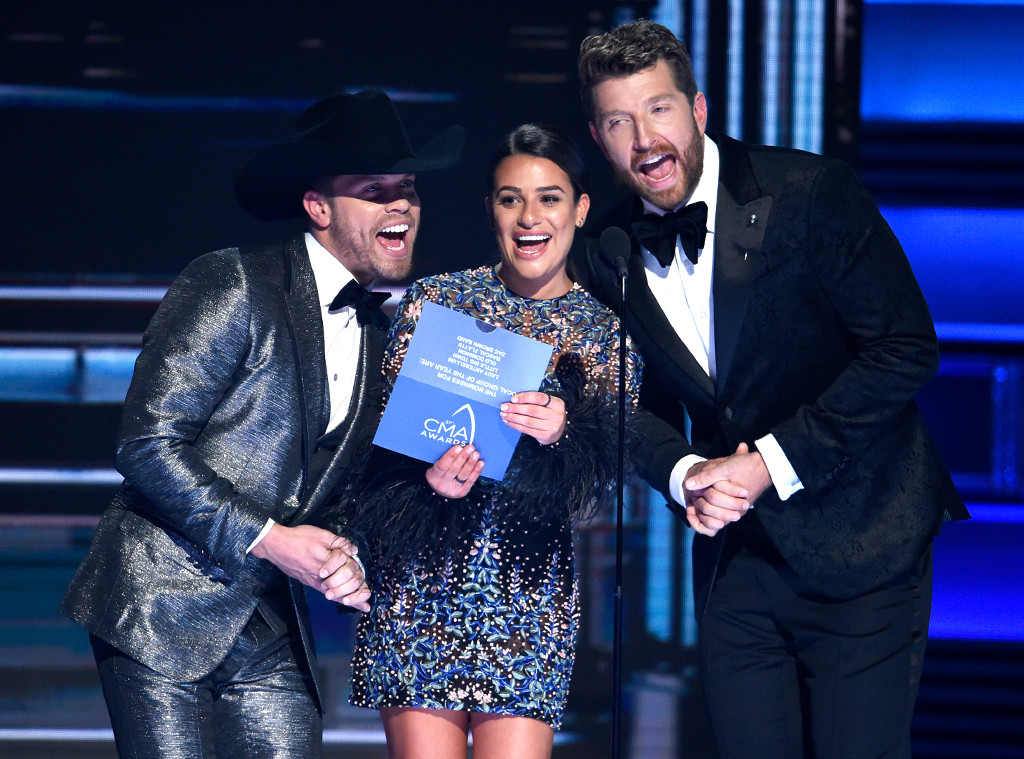 Dustin Lynch, Lea Michele, Brett Eldredge, 2017 CMA Awards, Show