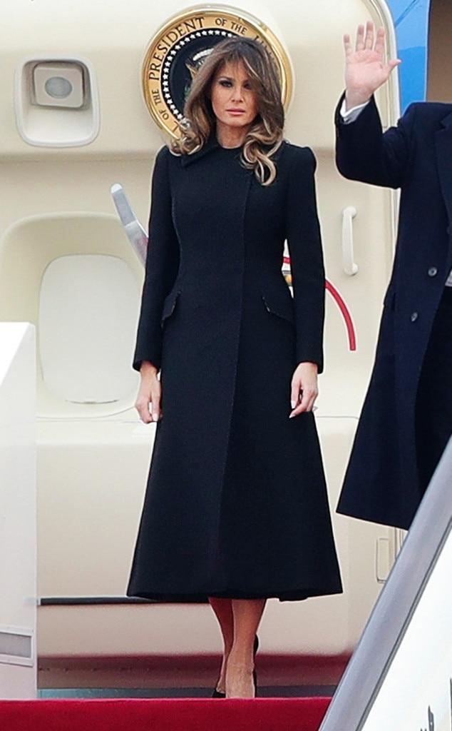 fcbca0c99b1 Melania: Plum Coat Dress from Kate Middleton vs. Melania Trump: The ...