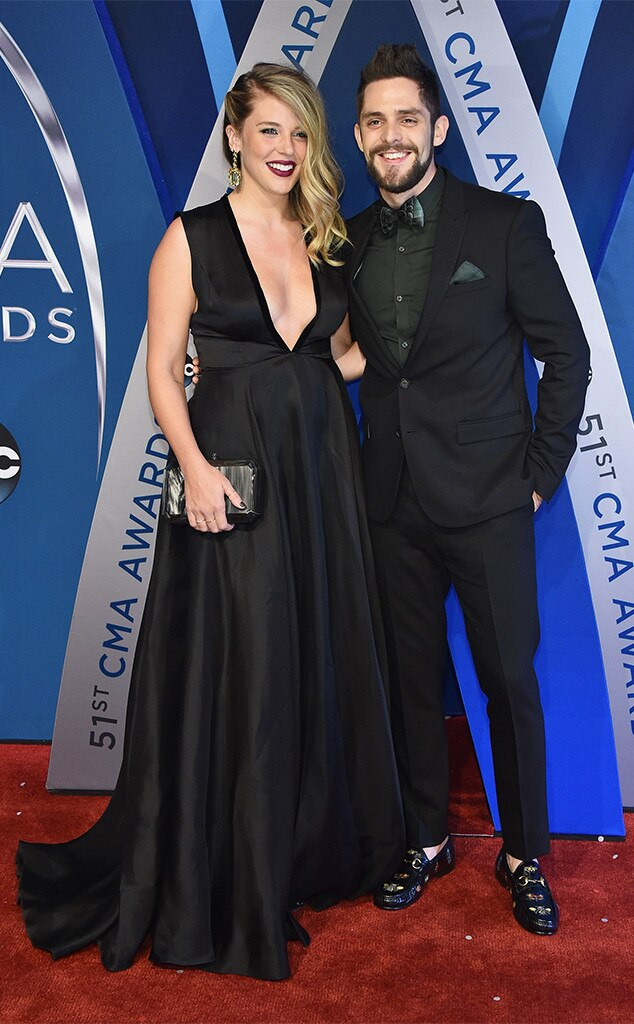Lauren Akins, Thomas Rhett, 2017 CMA Awards, Couples