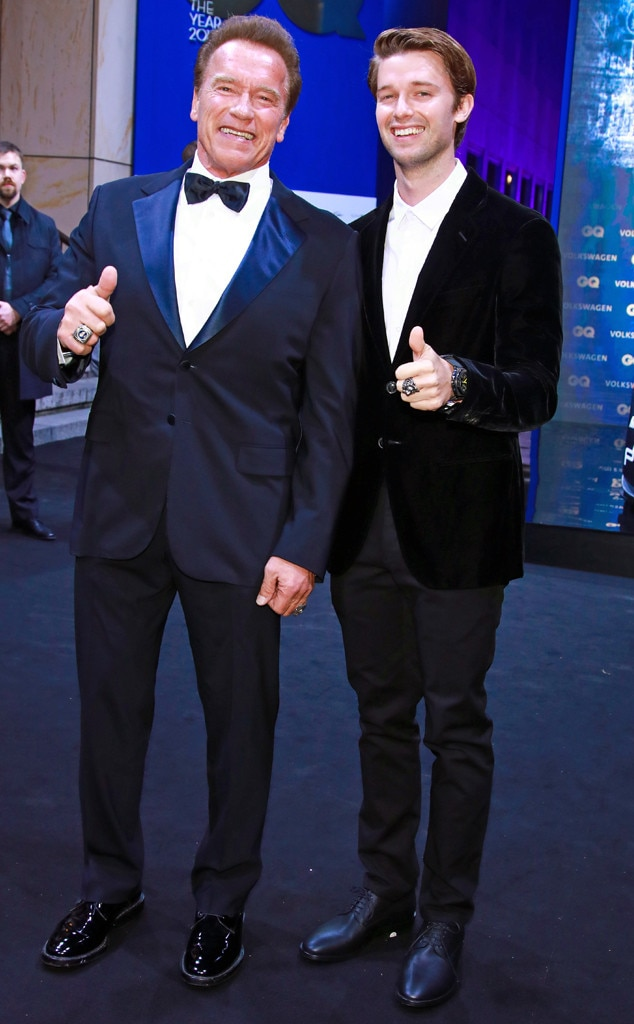 Arnold Schwarzenegger, Patrick Schwarzenegger, GQ Men of the Year Awards