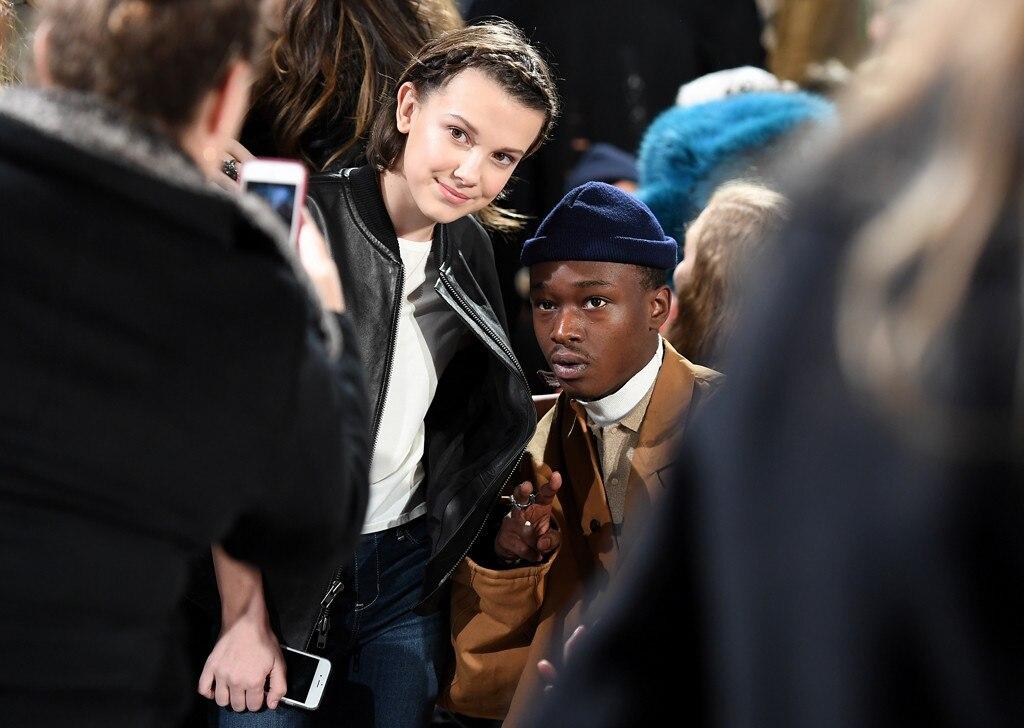Millie Bobby Brown, Ashton Sanders, 2017 NYFW Star Sightings