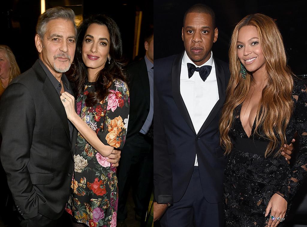 George Clooney, Amal Clooney, Jay Z, Beyonce