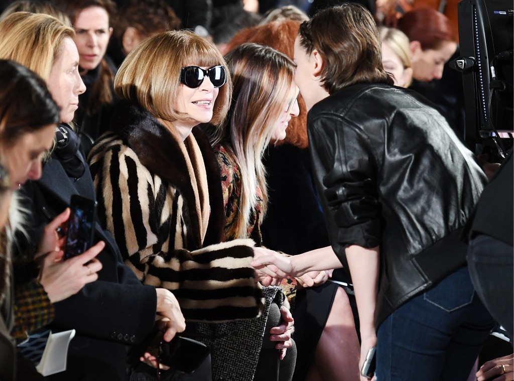 First Fashion Week -  Name a more iconic duo... we'll wait. Brown meets the one and only  Anna Wintour  at the Calvin Klein runway show during New York Fashion Week in 2017.