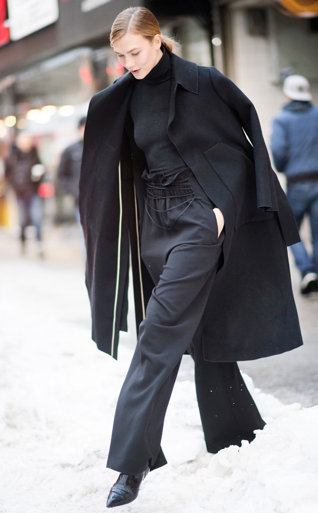 Karlie Kloss From Best Celeb Street Style From Nyfw Fall