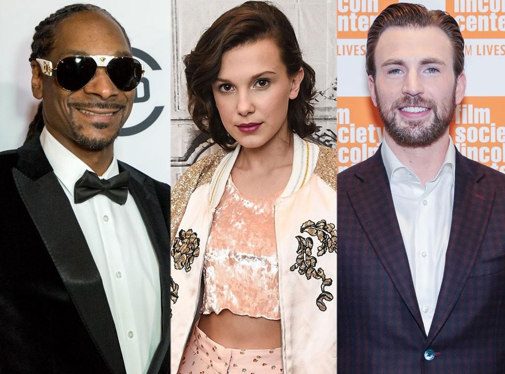 Snoop Dogg, Millie Bobby Brown, Chris Evans