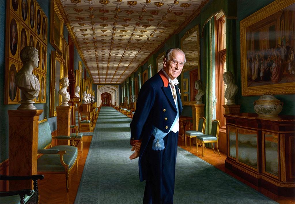 Prince Philip, Painting, 2017, Widget