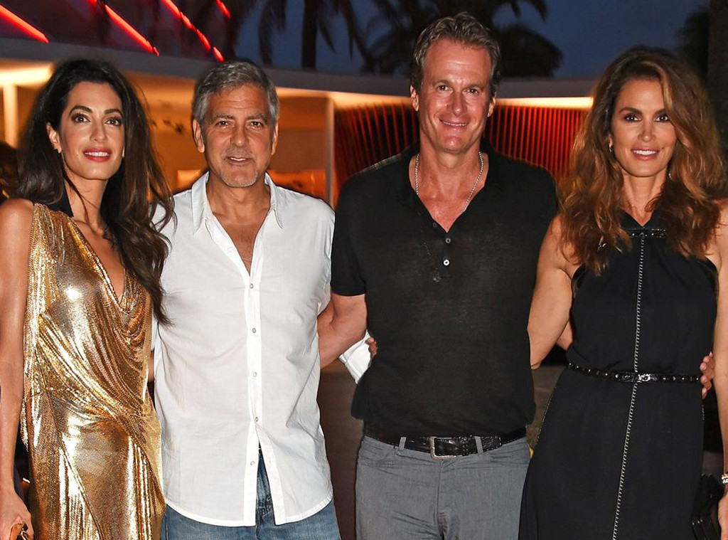 George Clooney, Amal Clooney, Cindy Crawford, Rande Gerber