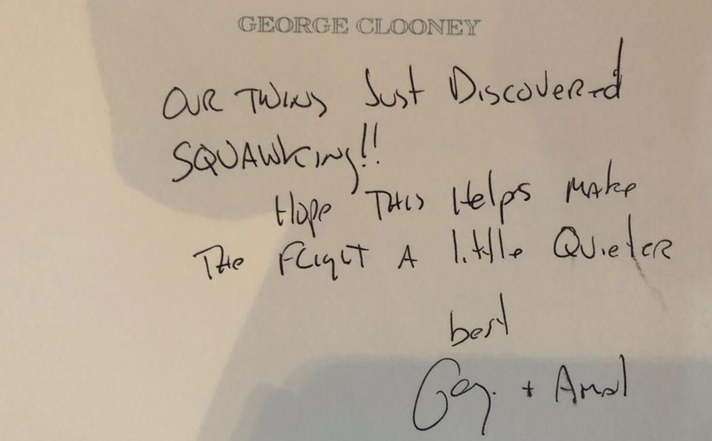 George Clooney, Amal Clooney, Note, Headphones