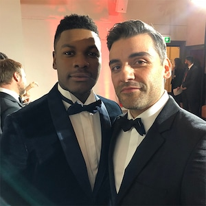 John Boyega, Oscar Isaac, Star Wars: The Last Jedi, After-Party