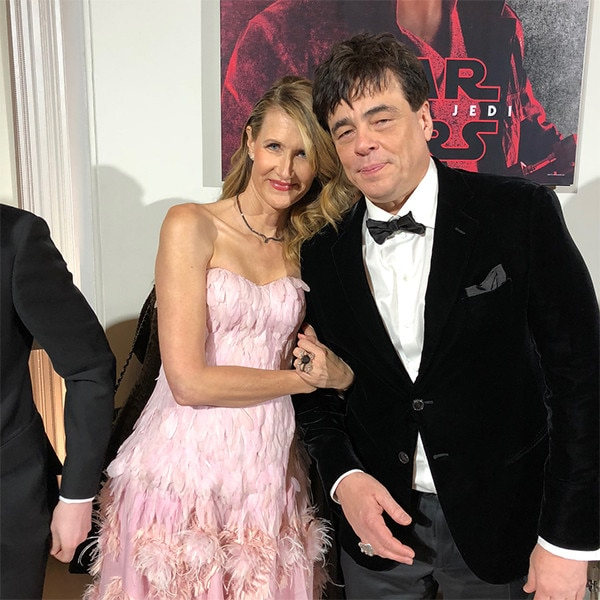 Laura Dern, Benicio Del Toro, Star Wars: The Last Jedi, After-Party