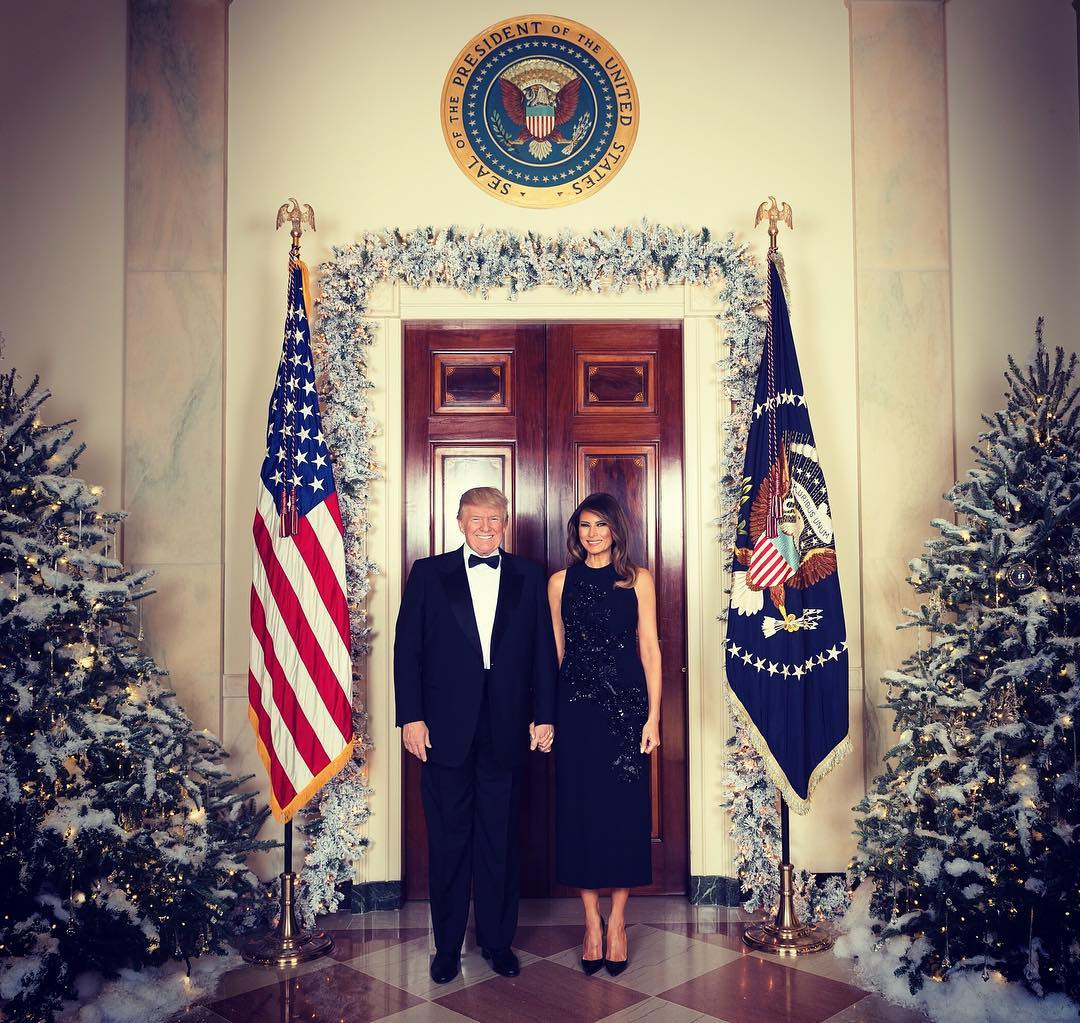 Donald Trump, Melania Trump, Christmas, Instagram