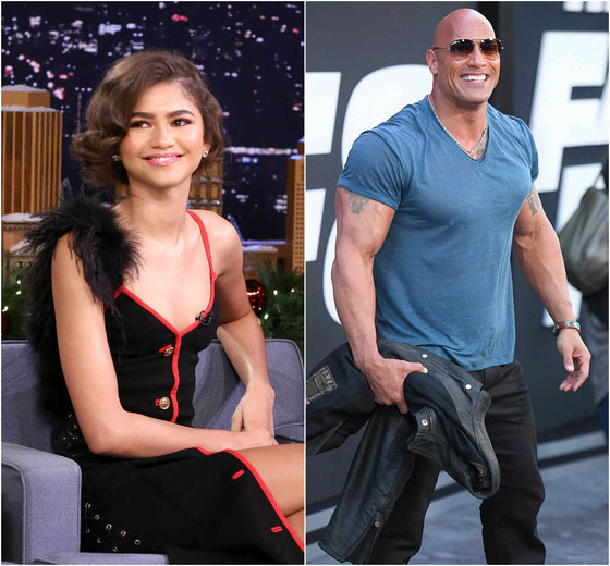 Zendaya, Dwayne Johnson