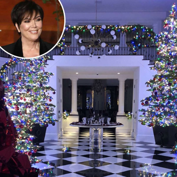 Kris Jenner S 2017 Christmas Decorations Are Rainbow Themed And