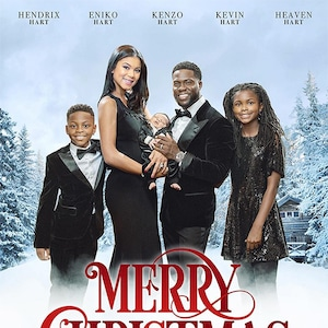 Kevin Hart, Eniko Hart, Son, Kenzo, Baby, Kids, Christmas, Card, 2017