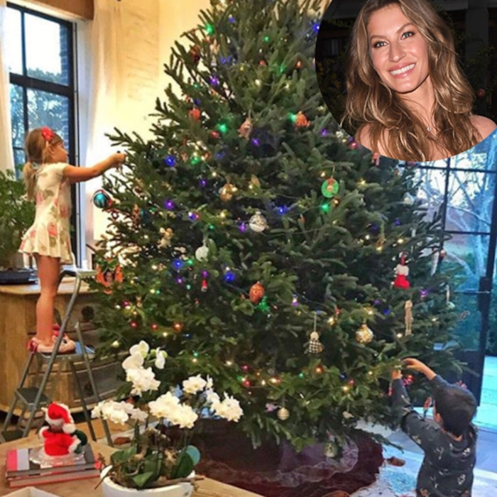 Gisele Bündchen Decorates Christmas Tree With Her Two Kids, Calls ...