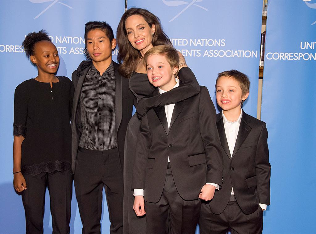 Angelina Jolie, Pax, Knox, Shiloh, Zahara