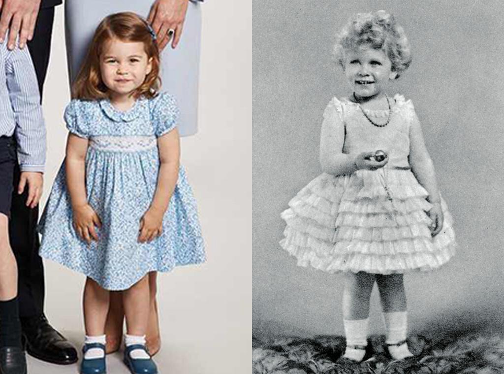 Princess Charlotte Looks Just Like Queen Elizabeth Ii Did
