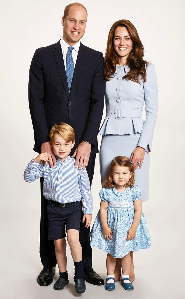 Prince William, Kate Middleton, Prince George, Princess Charlotte, Royal Christmas Card 2017, png