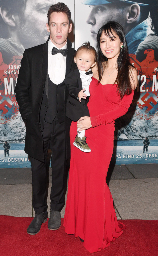 Jonathan Rhys Meyers Makes Rare Red Carpet Appearance With Wife Mara