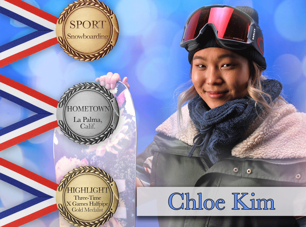 team usa snowboarder chloe kim prepares to break records at 2018 winter olympics e news. Black Bedroom Furniture Sets. Home Design Ideas