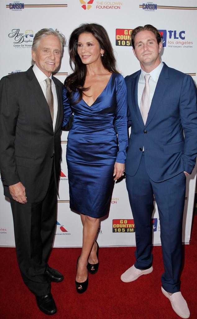 Michael Douglas, Catherine Zeta-Jones, Cameron Douglas