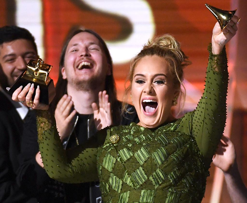 Adele, 2017 Grammys, Candids
