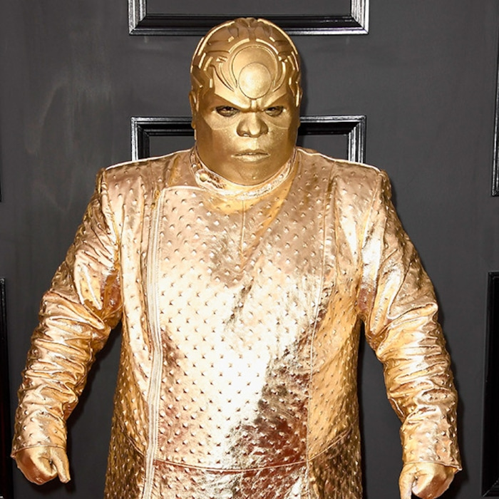 Ceelo Green Debuts Gold Alter Ego At 2017 Grammys And The Internet Responds Accordingly E Online