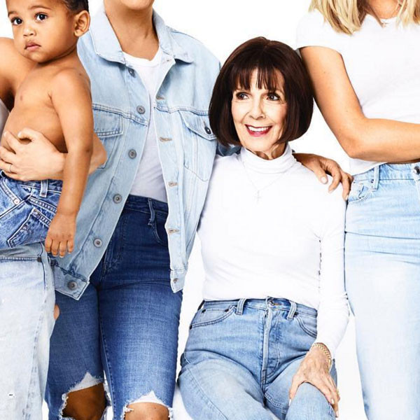 Kardashian Christmas Card, Kardashian Christmas Card Day 20, Saint West, Grandma MJ
