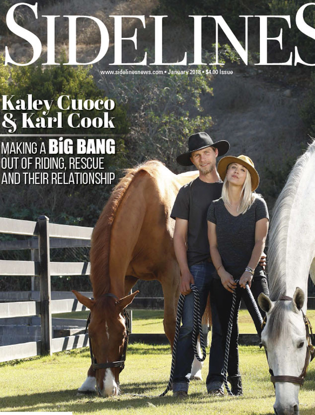 Kaley Cuoco, Karl Cook, Sidelines Magazine