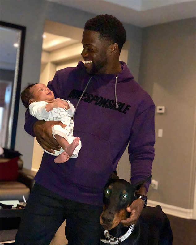 Kevin Hart, Baby, Son, Kenzo, Christmas Eve 2017