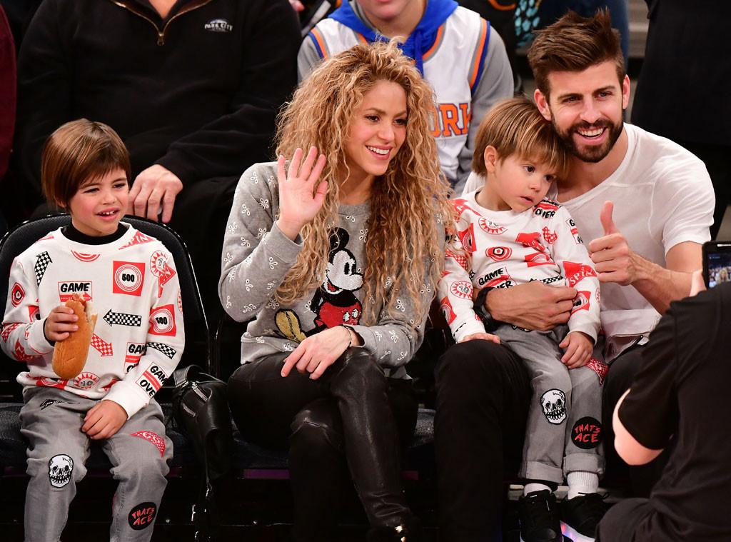 Milan Pique Mebarak, Shakira, Sasha Pique Mebarak, Gerard Pique