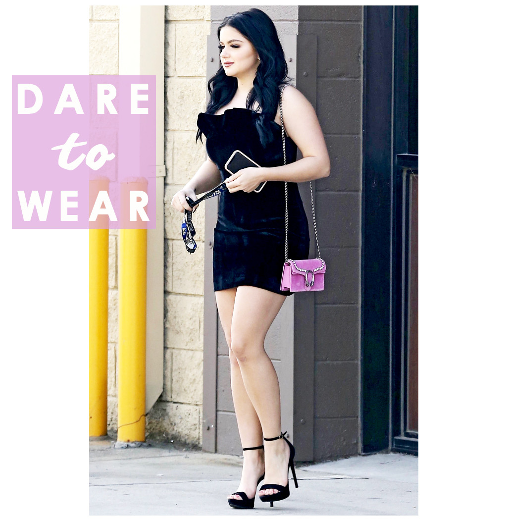 Ariel Winter's Pink Crossbody Bag Makes Everything Look ...