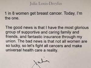 Julia Louis Dreyfus, cancer battle