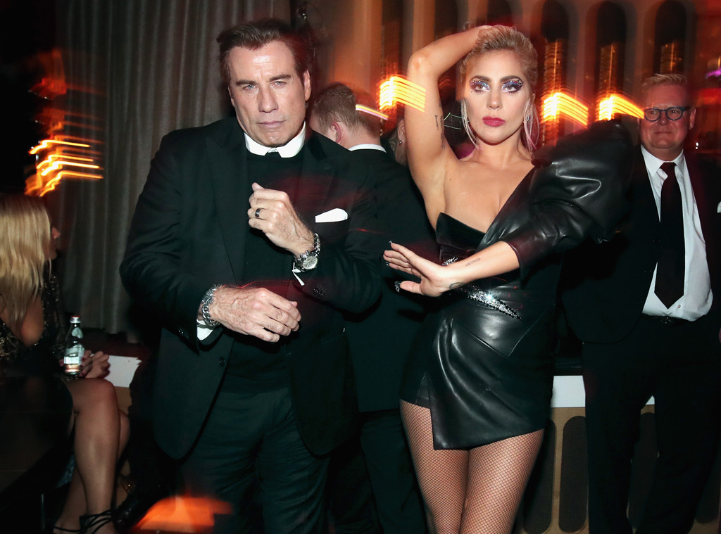 John Travolta, Lady Gaga, 2017 Grammy After Party, Interscope