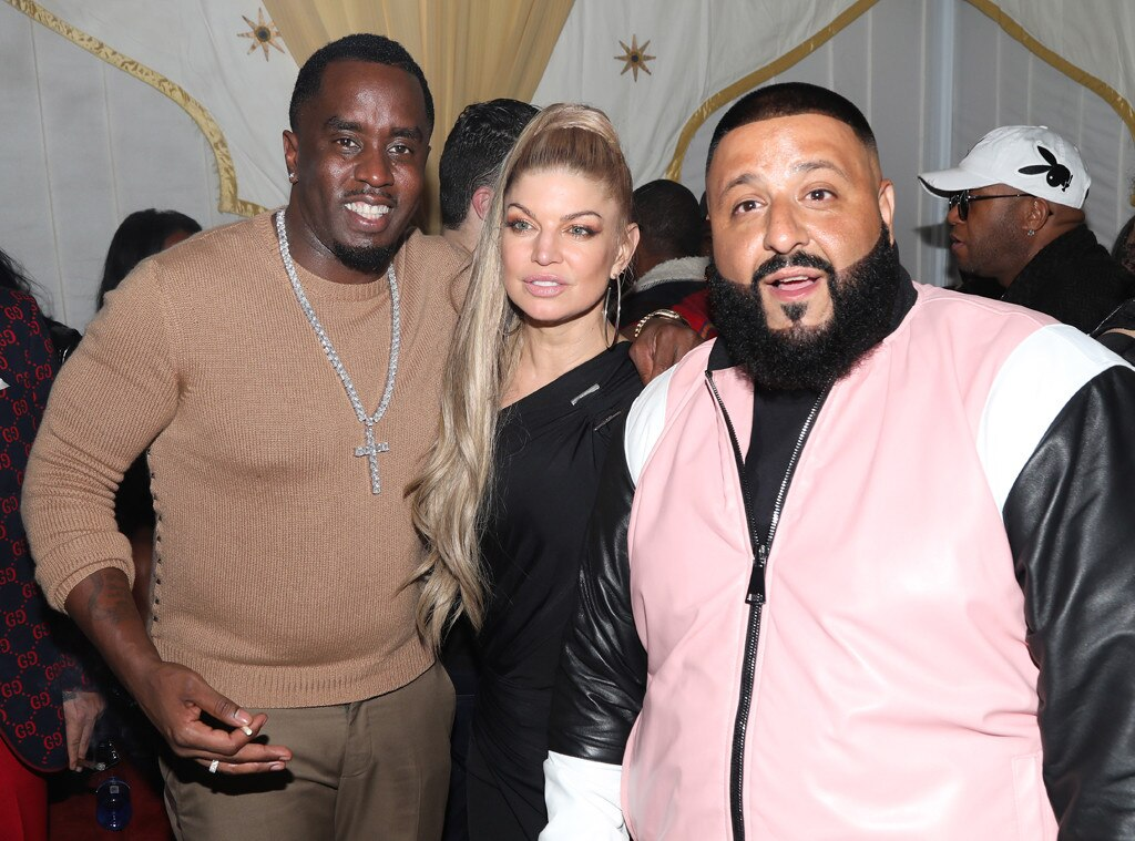 DJ Khaled, Sean Combs, Fergie, birthday party