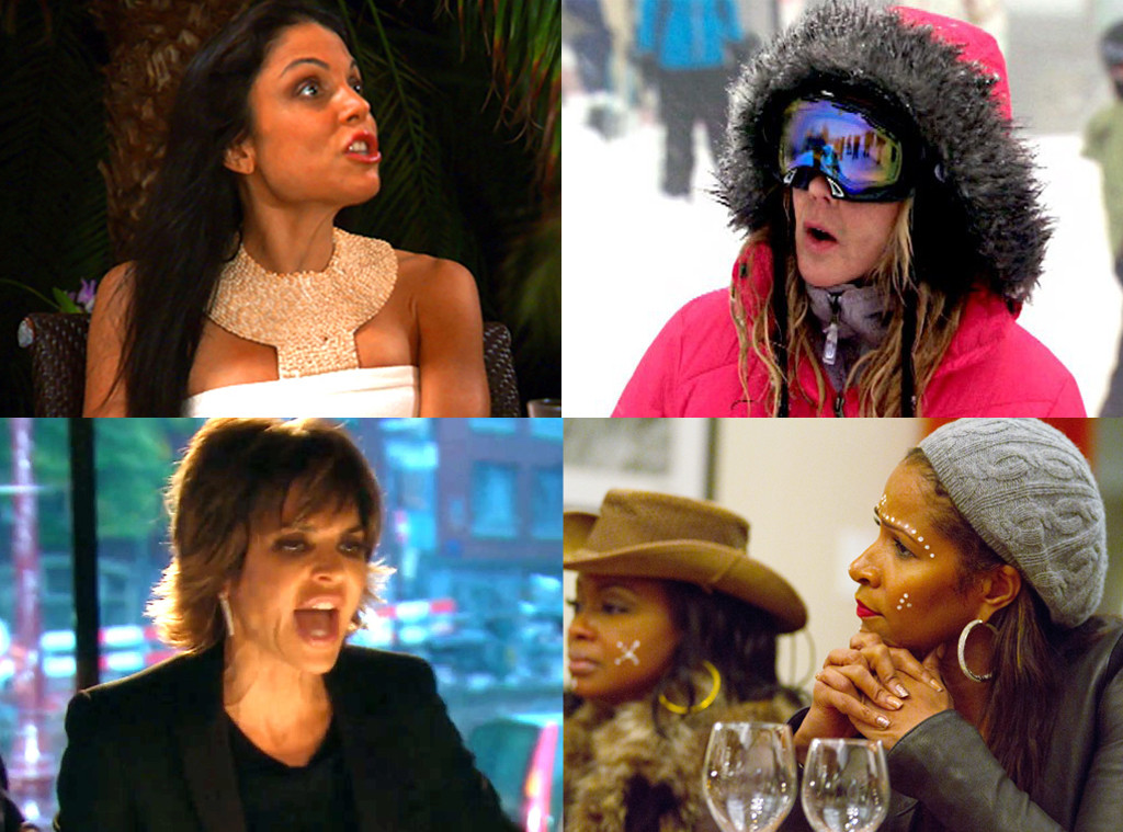 Bethenny Frankel, Vicki Gunvalson, Lisa Rinna, Sheree Whitfield, Real Housewives, International Incident