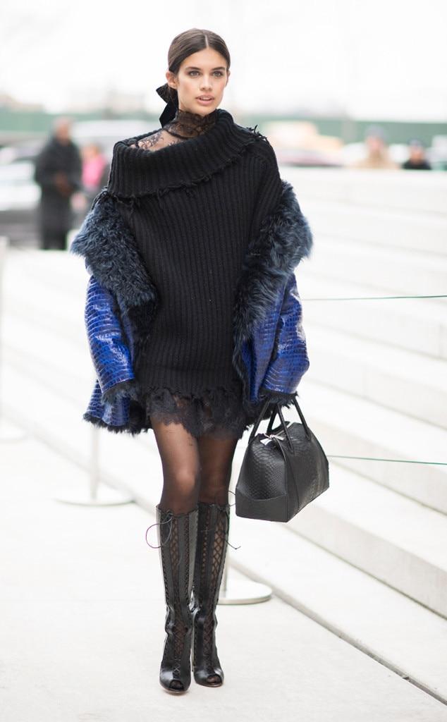 Sara Sampaio From Best Celeb Street Style From Nyfw Fall 2017 E News